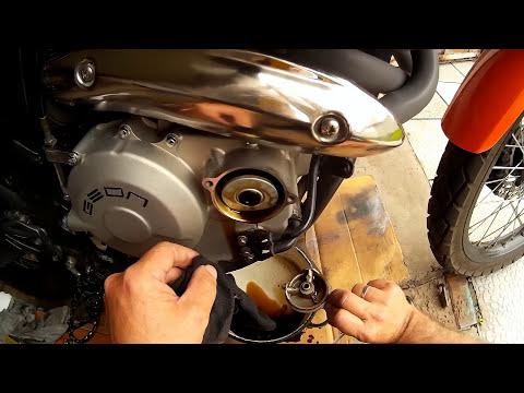 Geon Grandtour 400 Efi, замена масла и маслофильтра