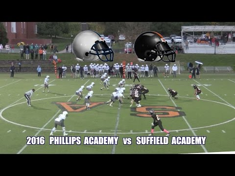 2016 Phillips Andover Football vs Suffield Academy