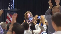 DNC chair Wasserman Schultz booed, heckled by protesters