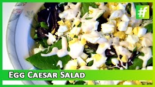 #fame Food -​​ Easy Cooking Recipe Of Egg Caesar Salad