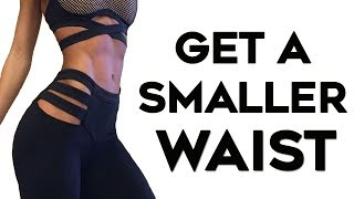 How To Get A Tiny Waist FAST | STANDING Abs Workout to Lose Belly Fat & Get A Smaller Waist