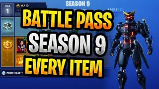 Jede Gegenstandssaison 9 Fortnite Battle Passs