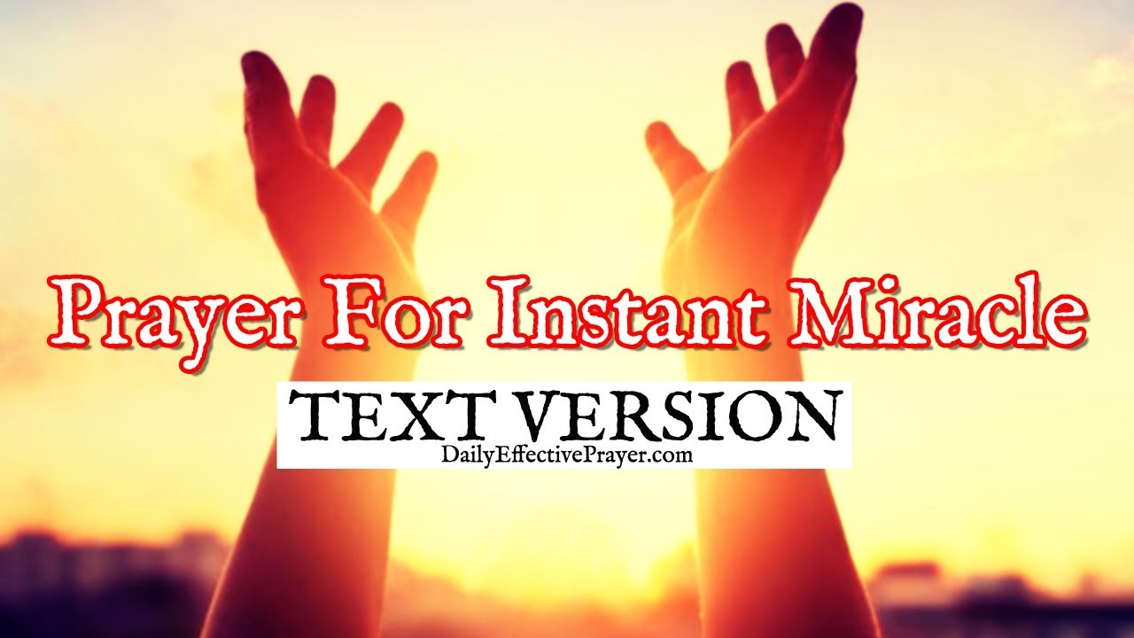 Prayer For Instant Miracle | Prayers For Instant Miracles (Text Version -  No Sound)