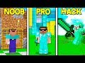 NOOB VS PRO VS HACKER IN MINECRAFT!