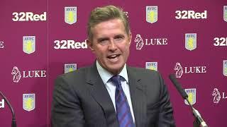 Dean Smith & Christian Purslow Press Conference   Aston Villa