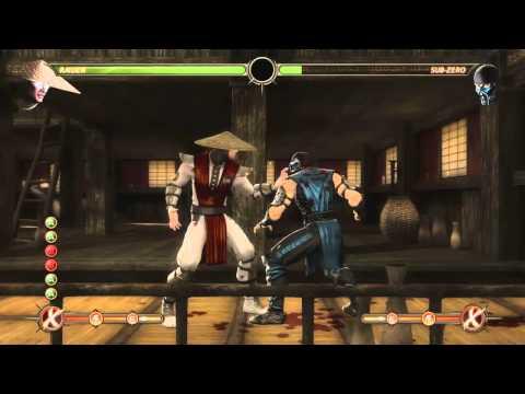 Mortal Kombat 9 - Raiden обучение + комбо