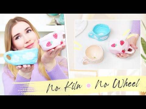 DIY Ceramic Mugs !! *no kiln or wheel required*