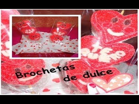 Brochetas De Bombon Y Gomitas 14 De Febrero Caricositas San Valentin