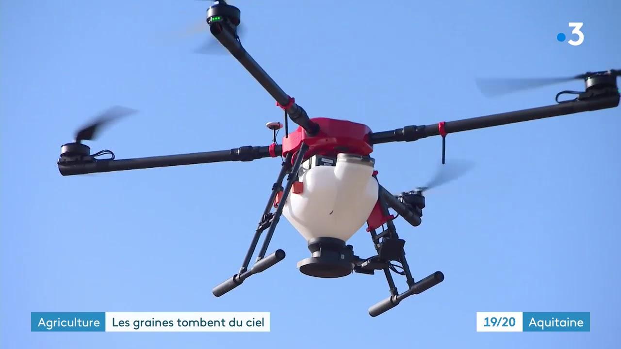 Semis de couverts végétaux par drone - Maïsadour et Ovalie Innovation #1