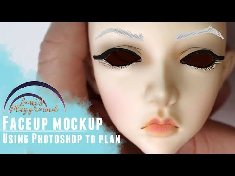 Planning a BJD faceup with Photoshop