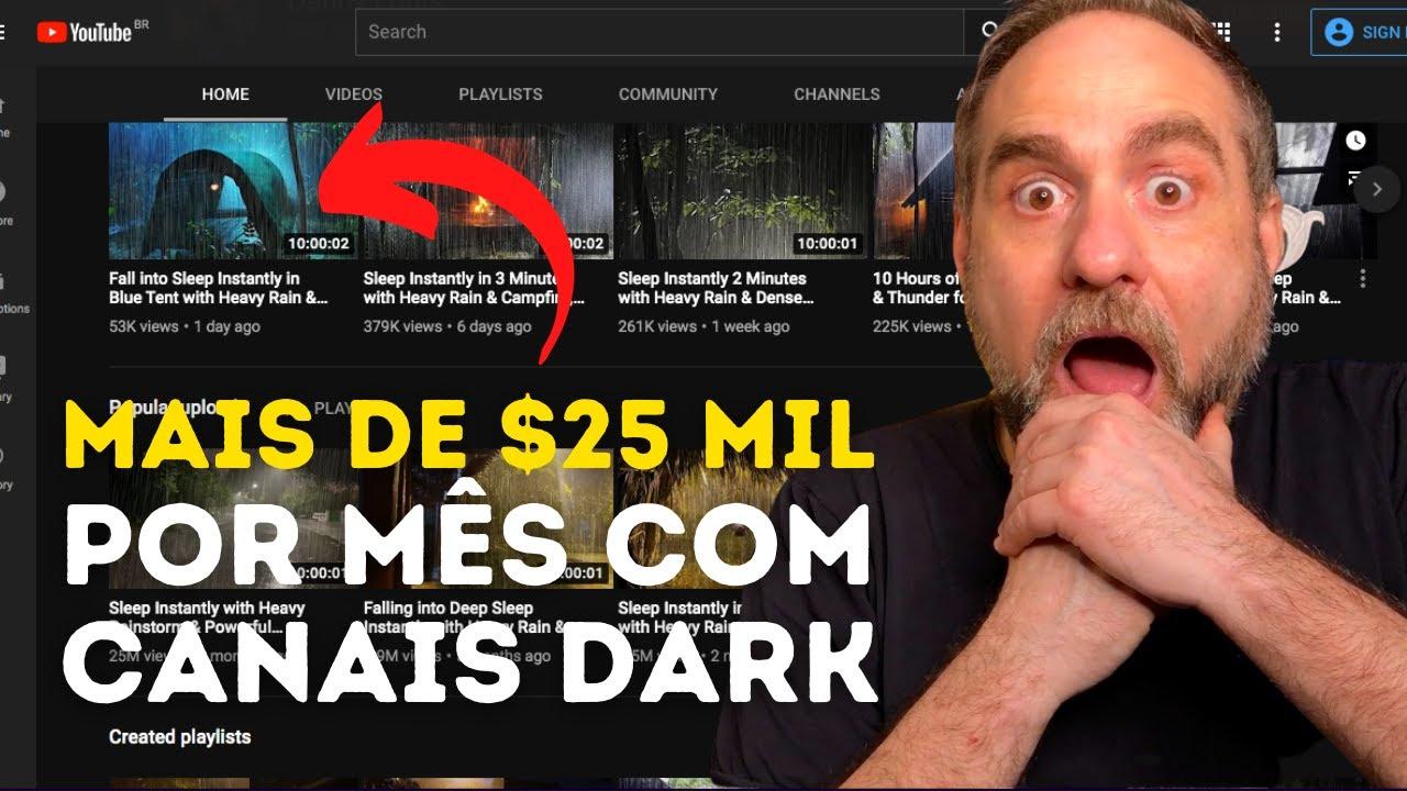 Ganhe mais de $25 mil por mês com canal Dark no Youtube.Monetize o canal rápido.Ganhando em dólar