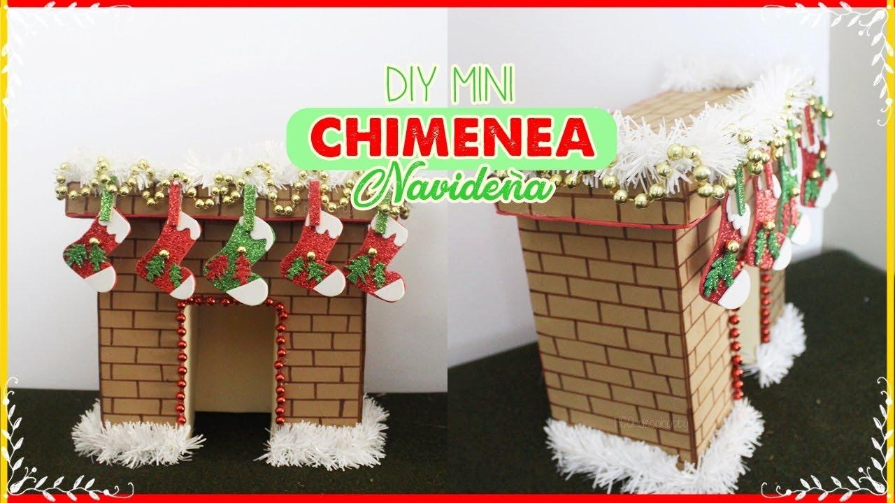 Diy mini chimenea navide a hecha con carton fireplace youtube - Como construir una chimenea paso a paso ...