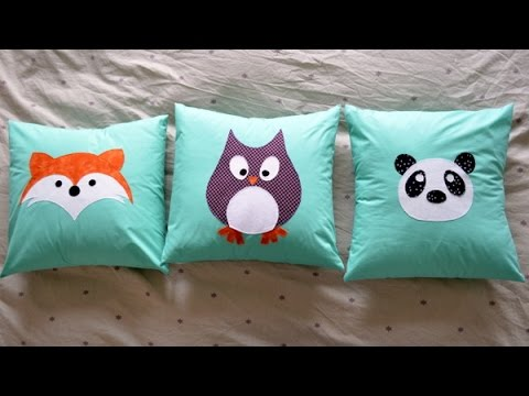 Cojines infantiles con aplicaciones applique pillows - Manualidades infantiles fieltro ...