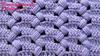 TEJIDOS A CROCHET: Punto Puff Zigzag/ HOW TO CROCHET: Puff zigzag