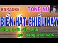 Karaoke  Biển Hát Chiều Nay Tone Nữ  Nhạc Sống  gia huy beat
