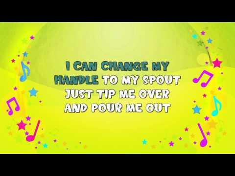 I'm a Little Teapot | Karaoke | Action Song | Nursery Rhyme | KiddieOK