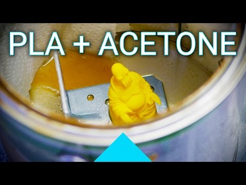 Does Acetone also work for welding and smoothing PLA 3D printed parts?