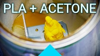 Does Acetone also work for welding and smoothing PLA 3D printed parts?(Supposedly you can use Acetone not just for welding and smoothing ABS, but also for PLA.... or can you? Only one way to find out! Acetone is highly flammable ..., 2016-12-09T12:08:23.000Z)