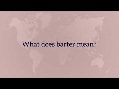 What does barter mean?
