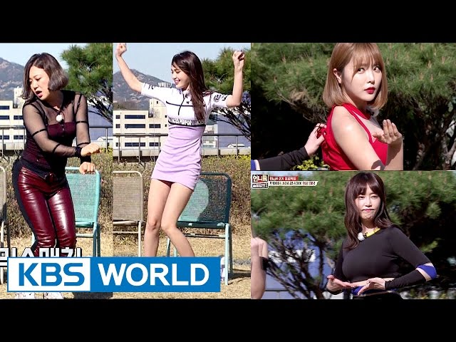 Unnies try out for TWICE, AOA, Girl's Day outfits! [Sister's SlamDunk2 / 2017.04.28]