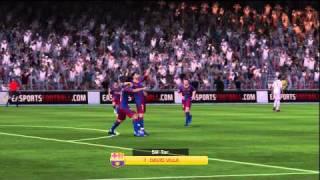FIFA 11 David Villa Lupfer Tor
