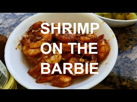 Best Grilled Shrimp On The Barbie Alfredo Pasta Lunch How-to Pitmaster Harry Soo Barbeque Tasty