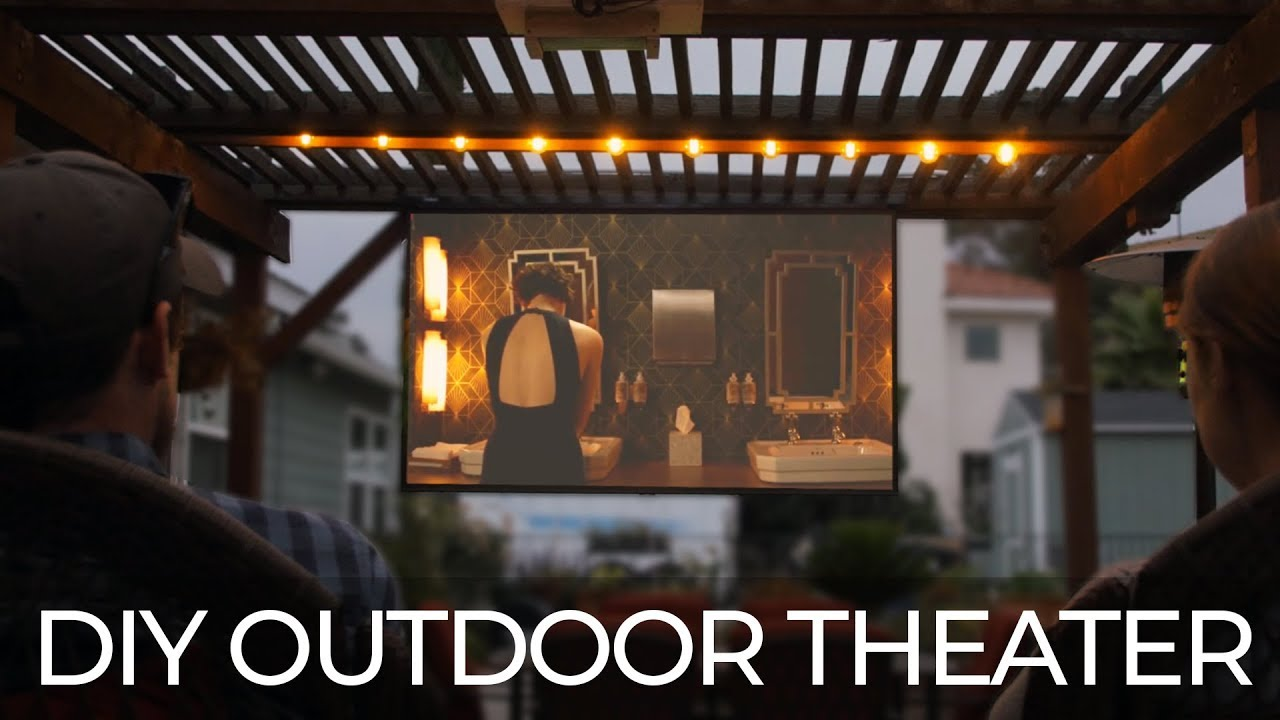 Diy Outdoor Movie Theater Youtube