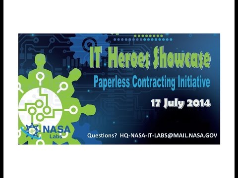 IT Heroes Showcase: Paperless Contracting Initiative at Jet Propulsion Laboratory (JPL)