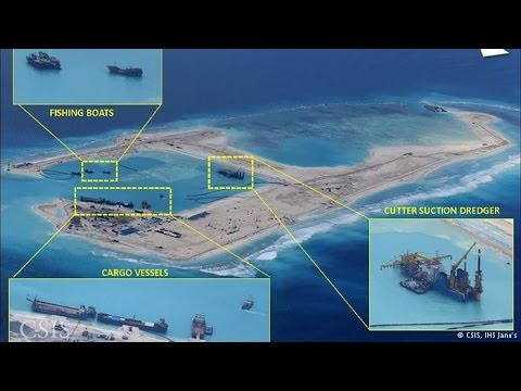 US Pentagon Confims Chinese Deployed Artillery On Reclaimed Islands in Spratlys