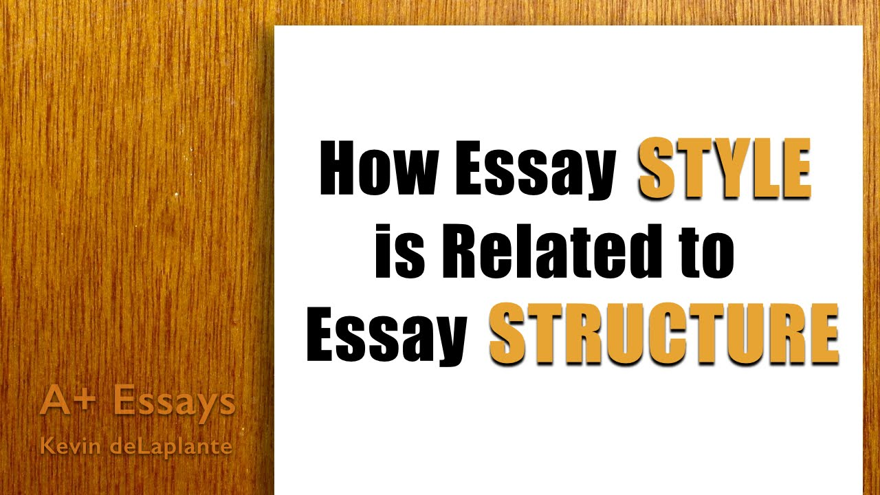 essays style Writing an academic essay means fashioning a coherent set of ideas into an argument because essays are essentially linear—they offer one idea at a time—they must present their ideas in the order that makes most sense to a reader.
