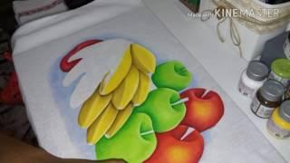 Pintura em tecido – Bananas