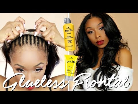 GLUELESS LACE FRONTAL WIG INSTALLATION AT HOME!  No Glue, No Tape, No Sewing