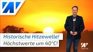 Über 40°C: Historische Hitzewelle!