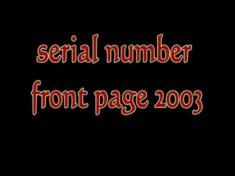 serial number front page 2003