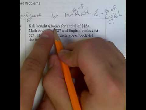 System of Equations writing Equations