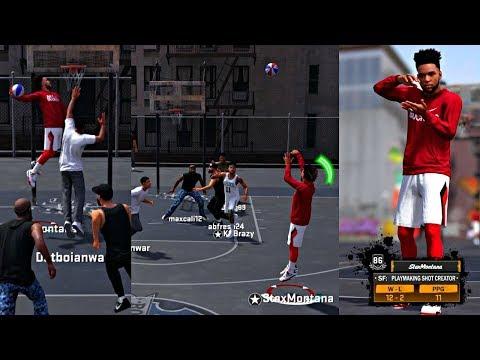NBA 2k18 MyPark - MY 1st PARK GAME! ANKLE BREAKER BADGE UNLOCKED! HITTING CONTESTED 3