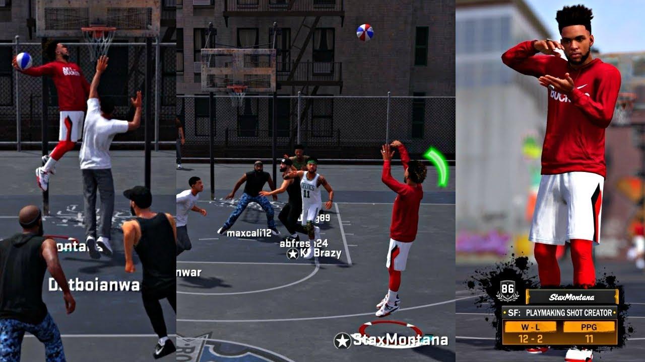 NBA 2k18 MyPark - MY 1st PARK GAME! ANKLE BREAKER BADGE UNLOCKED! HITTING CONTESTED 3's!