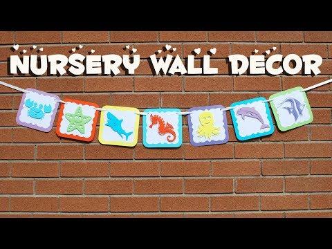 BABY NURSERY DECORATING IDEAS! DIY SEA CREATURES NURSERY PAPER BANNER - CUTE BABY SHOWER BANNER