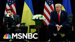 Trump Attacks Obama, Biden, Clinton, During UN Meeting With Ukraine Pres. | The 11th Hour | MSNBC