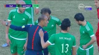 دوري dmc - اصابة دموية للاعب السكة الحديد محمد حنفي بعد