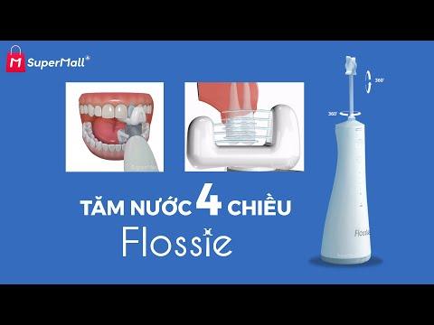 Rút ngắn gấp 3 lần thời gian làm sạch răng miệng với Máy tăm nước 4 chiều Flossie