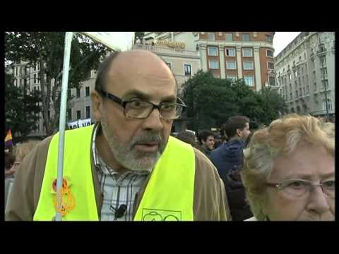 Anti-austerity protesters rally in Spain
