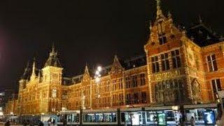 Центральный Железнодорожный Вокзал в Амстердаме(Центральный вокзал Амстердама (нидерл. Station Amsterdam Centraal) — главный железнодорожный вокзал нидерландской..., 2014-02-22T14:55:04.000Z)