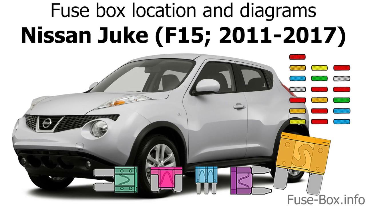 Fuse box location and diagrams: Nissan Juke (F15; 2011