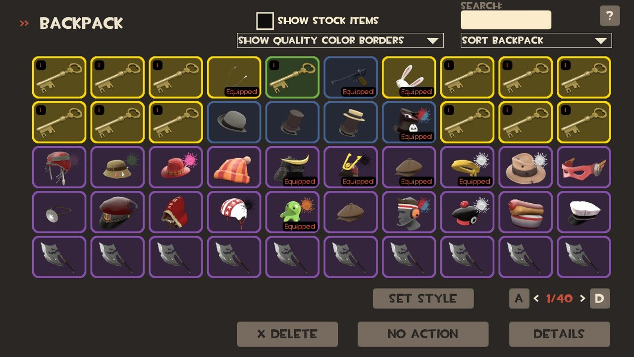 Tf2 A Year S Worth Of Trading Strife S Inventory Youtube