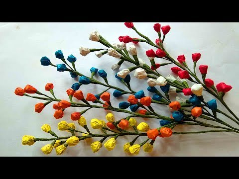 How to make flower with Carry Bags || Plastic Flower || DIY Craft Ideas