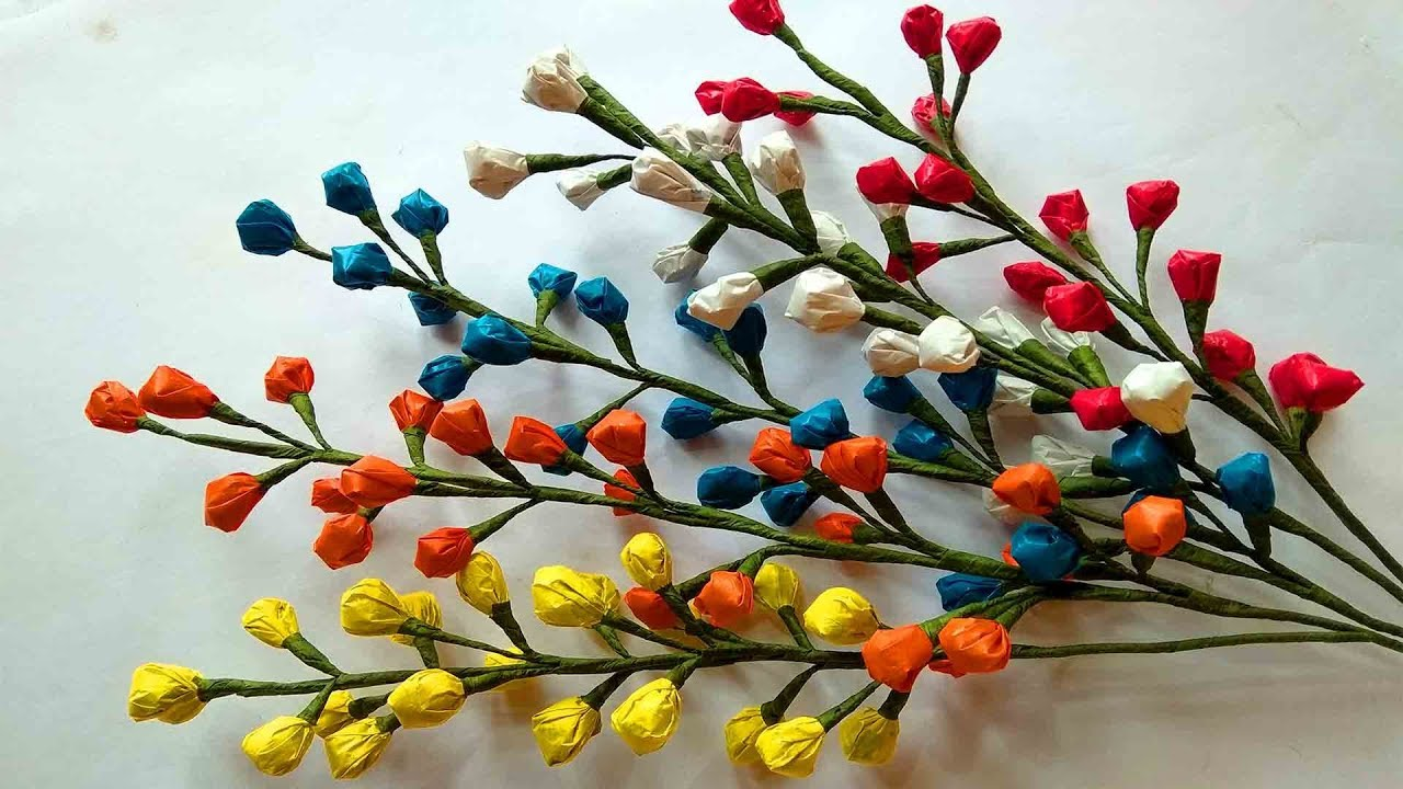 How To Make Flower With Carry Bags Plastic Flower Diy Craft
