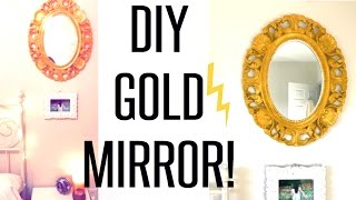 DIY Farbe GOLD Mirror Tutorial! #BOUJI #AF