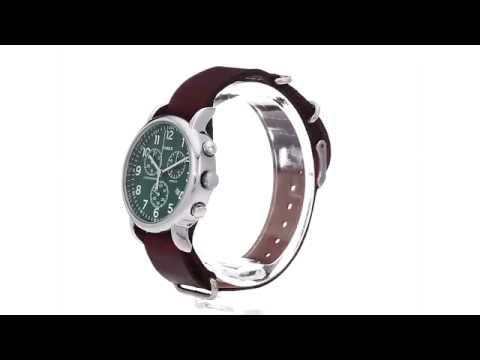 f6541096e Timex Weekender Chrono Oversize Leather Slip-Thru Strap SKU:8783474 -  YouTube