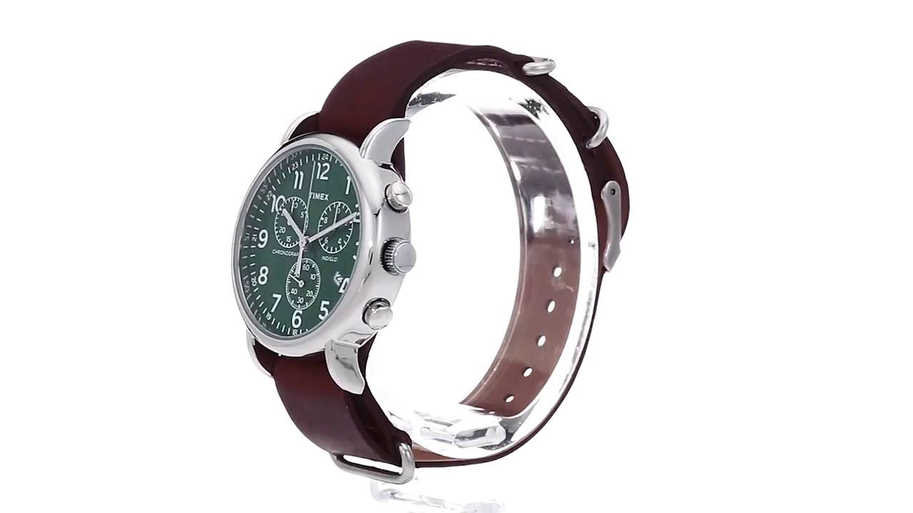 805f053c0 Timex Weekender Chrono Oversize Leather Slip-Thru Strap SKU:8783474 ...